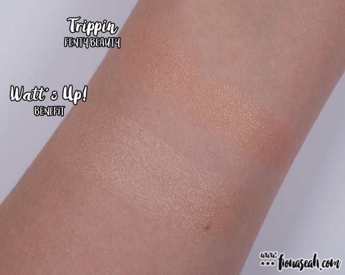 Trippin vs Watt's Up! Cream Highlighter by Benefit
