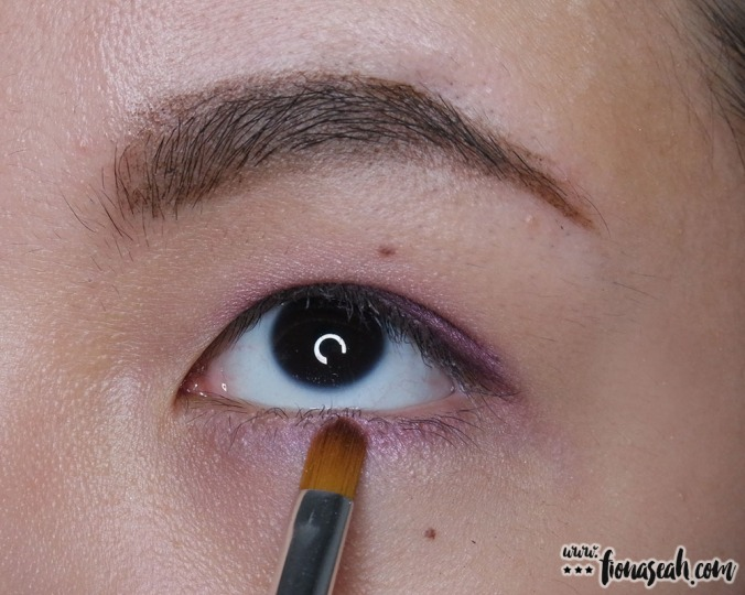 Apply styling colour along the lower lash line with the precision end of the brush