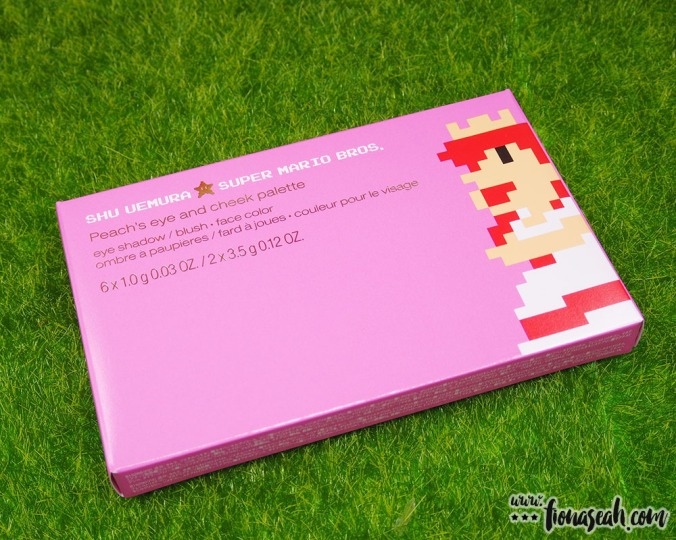 shu uemura × Super Mario Bros Peach's Eye & Cheek Palette (S$128)