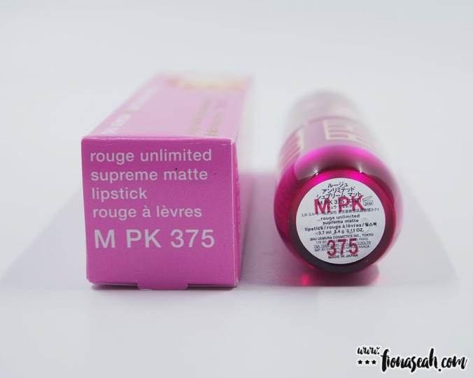 shu uemura × Super Mario Bros Rouge Unlimited Supreme Matte in PK 375