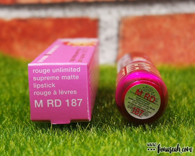 shu uemura × Super Mario Bros Rouge Unlimited Supreme Matte in RD 187