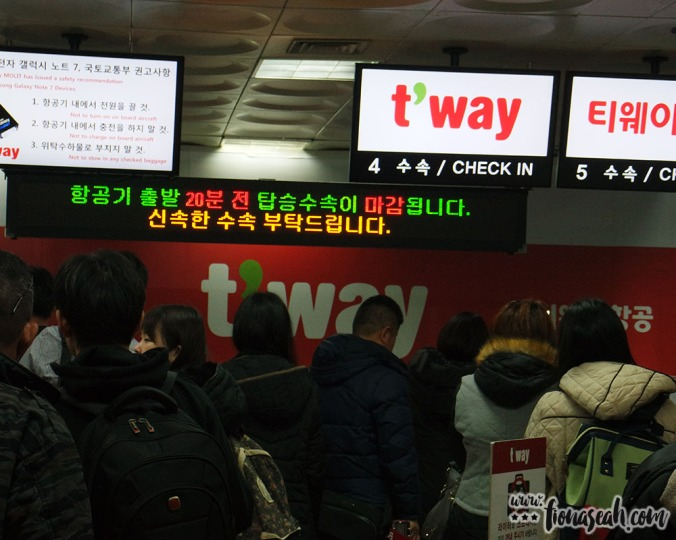 T'way check-in counter at Gimpo International Airport