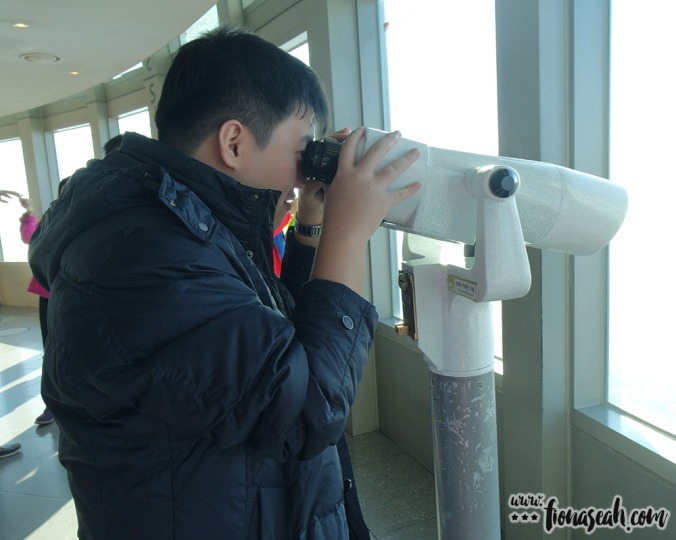 They've got quite a number of observatory binoculars like this on the level!