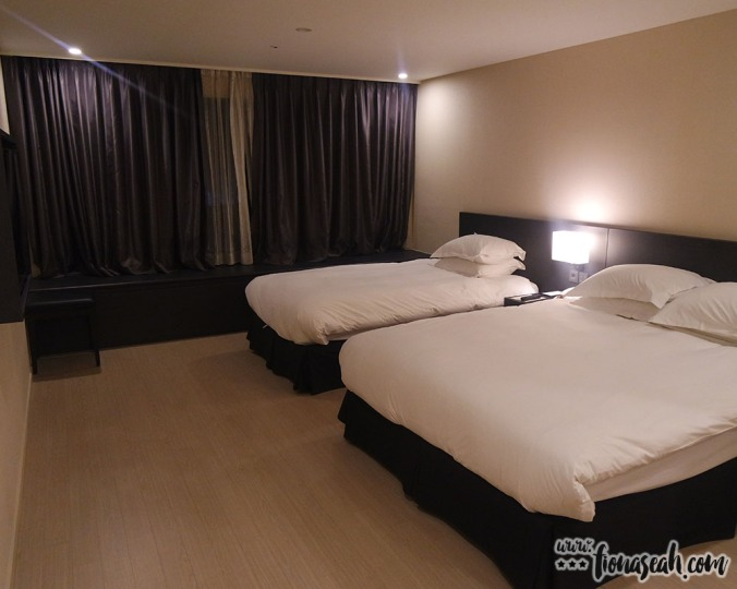 Our spacious room - just for the two of us!