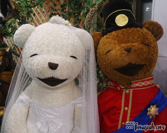 For sale: Kate Middleton and Prince William teddy bears. But I don't know, the workmanship looks kinda sloppy