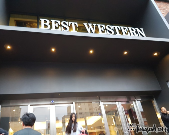 Best Western Jeju Hotel (taken on the day we checked out)