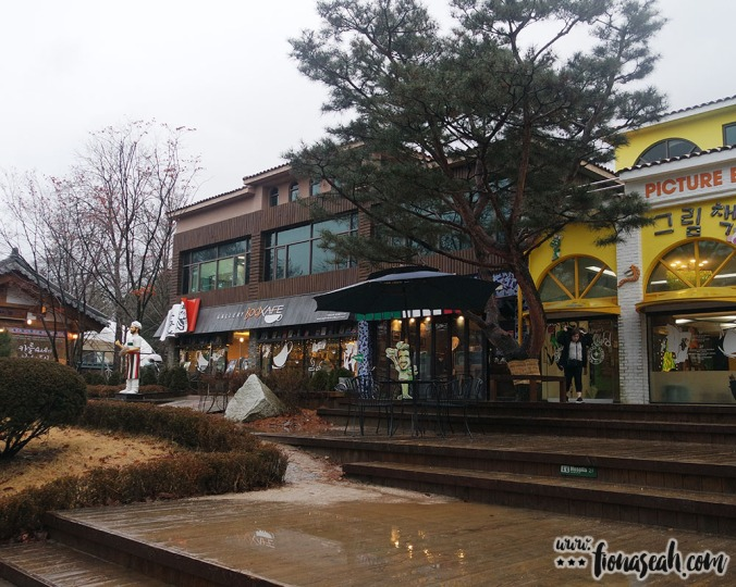 Some of the shops at Nami Island