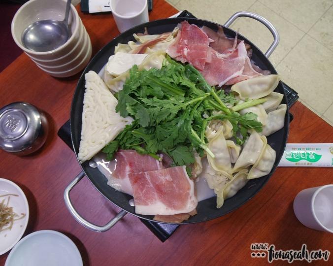 Red meat and lotsa mandu