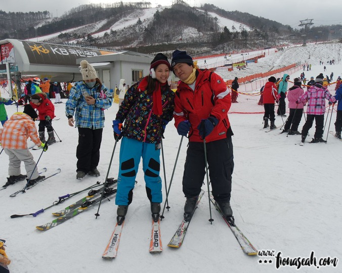 """Successfully """"skied"""" without falling down WOOO maybe I'm born for this!"""