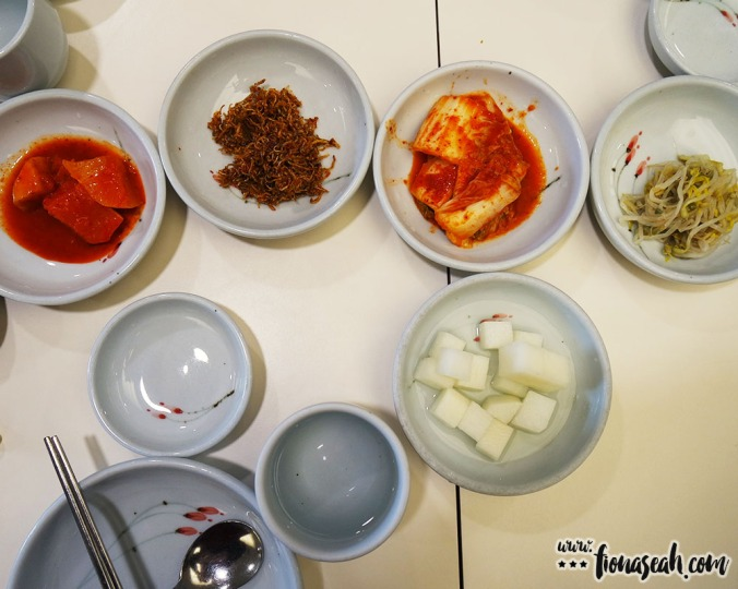 I must say, these banchan looked much more appetising..