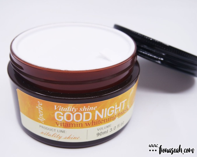 Aperire Vitality Shine Good Night Vitamin Whitening Mask