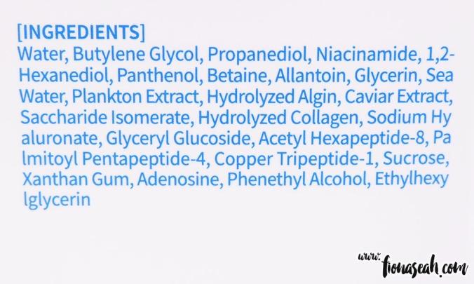 Ingredients in KISpeel Marine Vital Essence