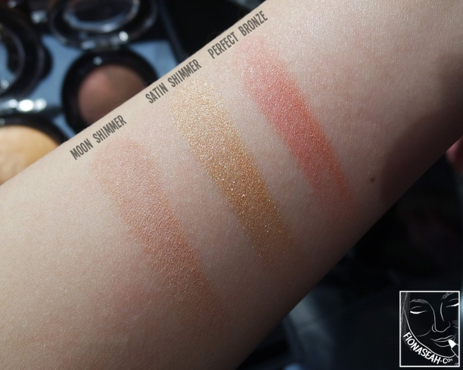 Swatches for bronzer and blush in the M·A·C × Jade Jagger collection