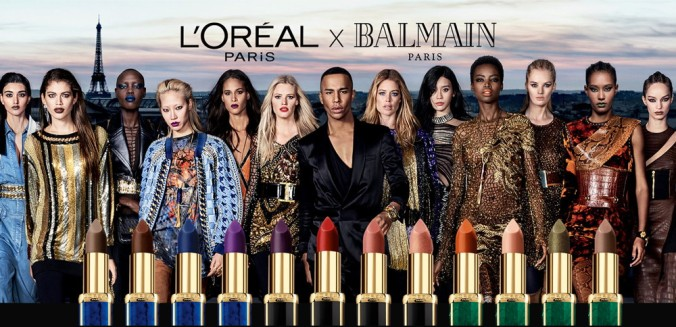 L'Oreal Paris × Balmain for Winter 2018