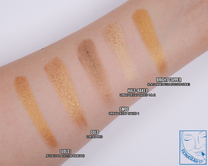 Swatch comparison for bright copper