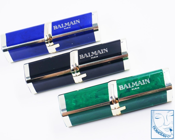 L'Oreal Paris × Balmain lipstick packaging