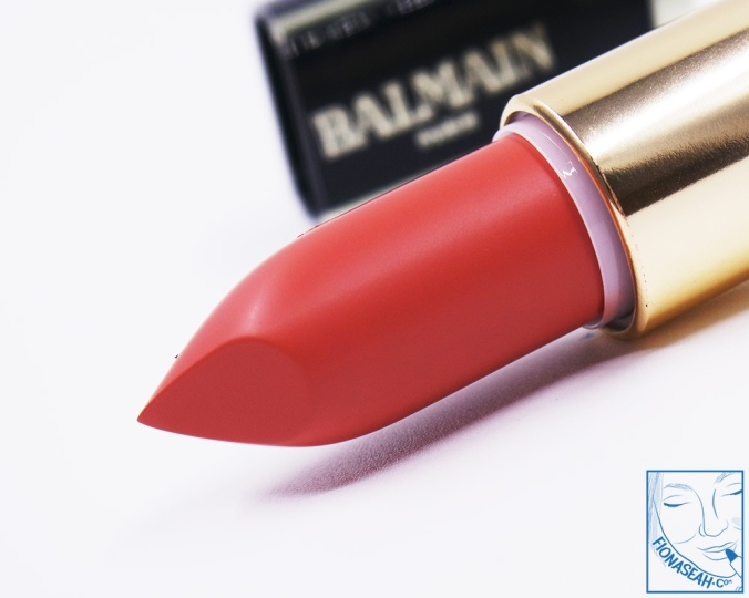 L'Oreal Paris × Balmain lipstick in Confession (US$14 / S$28)