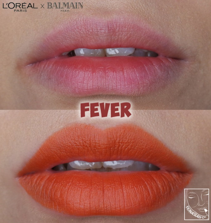 L'Oreal Paris × Balmain lipstick in Fever
