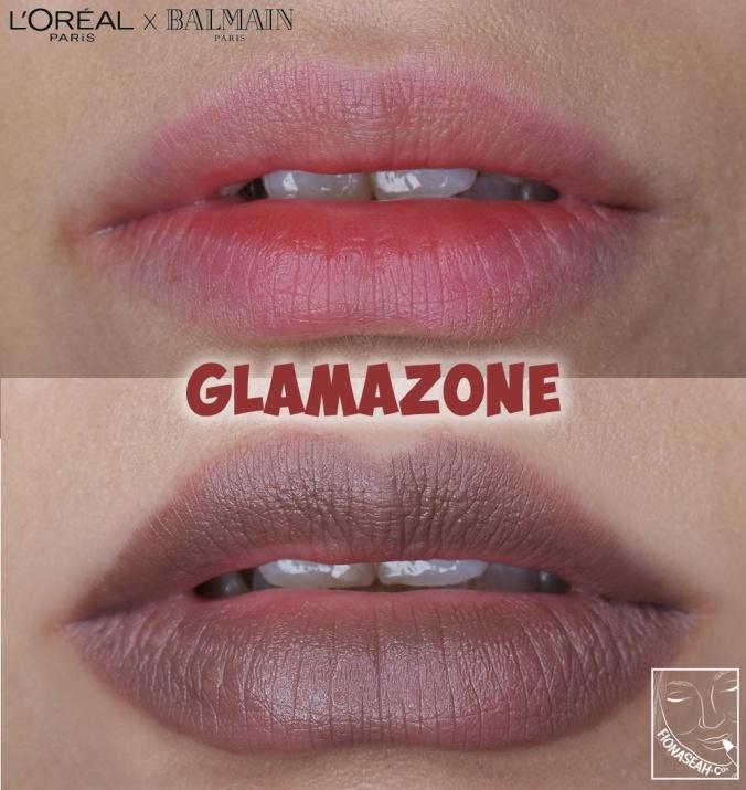 L'Oreal Paris × Balmain lipstick in Glamazone