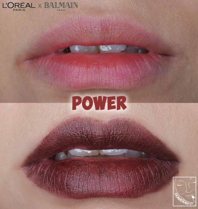L'Oreal Paris × Balmain lipstick in Power