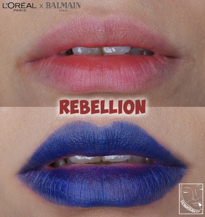 L'Oreal Paris × Balmain lipstick in Rebellion