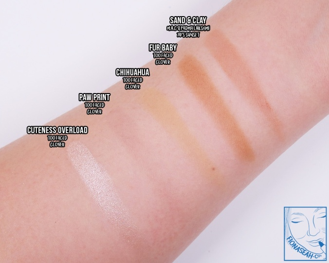Sand & Clay swatch comparisons