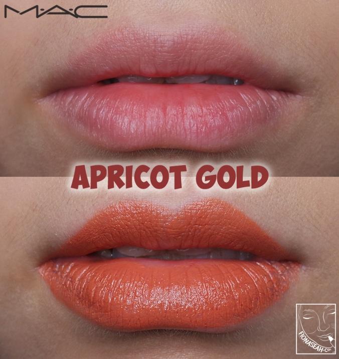 M·A·C× Padma Lakshmi lipstick in Apricot Gold