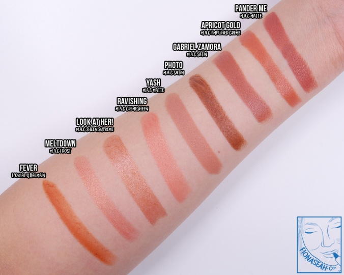 Swatch comparison against Apricot Gold
