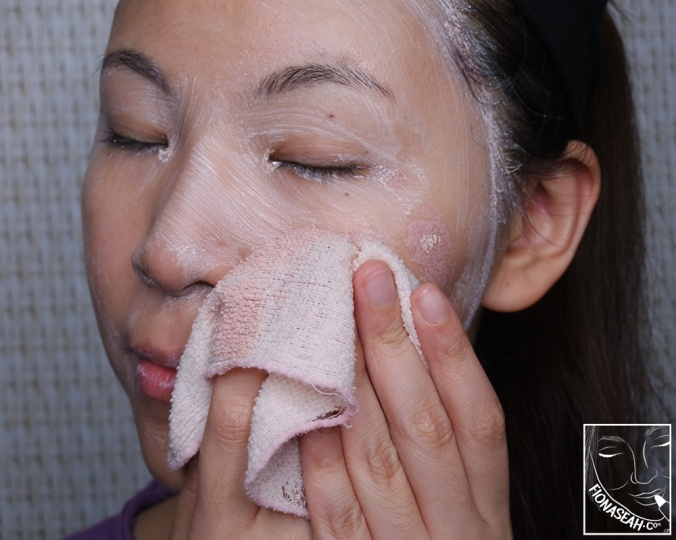 Try'na remove the mask with a damp cloth..