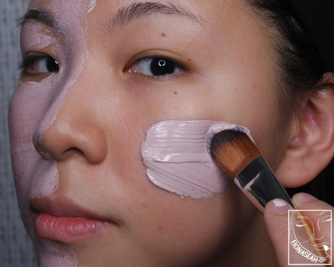 How the product looks like when applied! P/S: I filmed the application process on the left side of my face - check out my Instagram for the video!