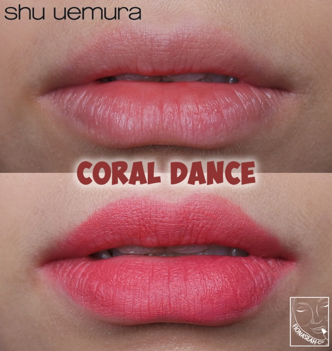 shu uemura × Yazbukey Rouge Unlimited Supreme Matte in Coral Dance
