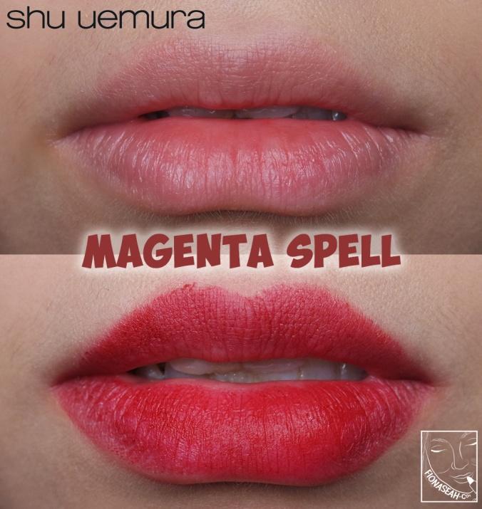 shu uemura × Yazbukey Rouge Unlimited Supreme Matte in Magenta Spell