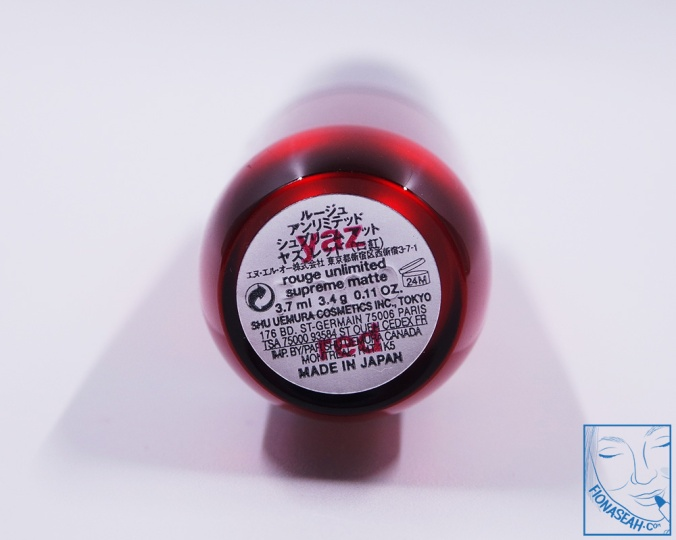 shu uemura × Yazbukey Rouge Unlimited Supreme Matte in Yaz Red