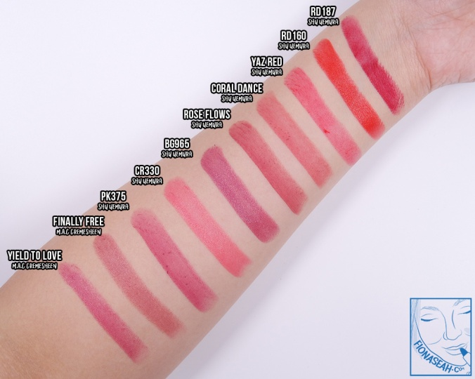 Coral Dance swatch comparison