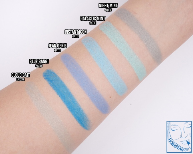 Swatch comparison for Galactic Mint
