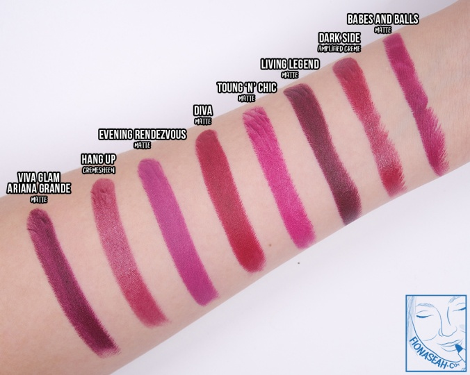 Swatch comparison for Toung 'n' Chic