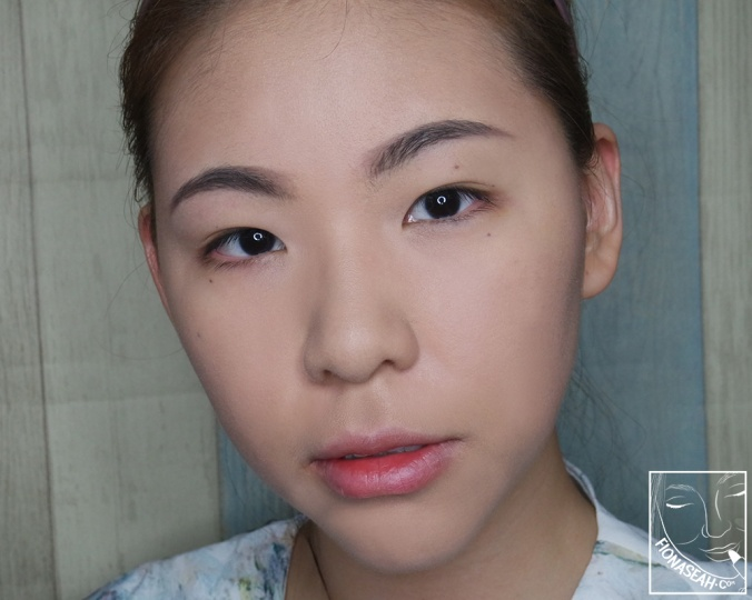 My face before applying eye, cheek and lip makeup