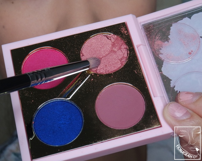 Last but not least, the messiest pan on the palette - In Living Pink