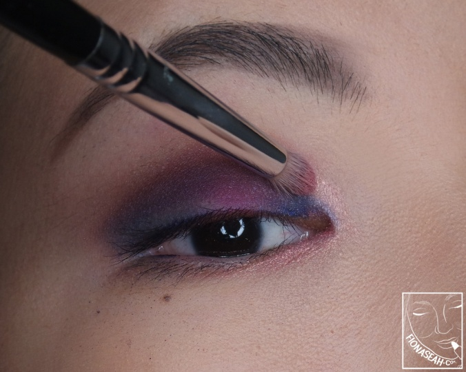 In Living Pink to make the eyes pop a little bit more. You can also use this as a topper above the more pigmented shades