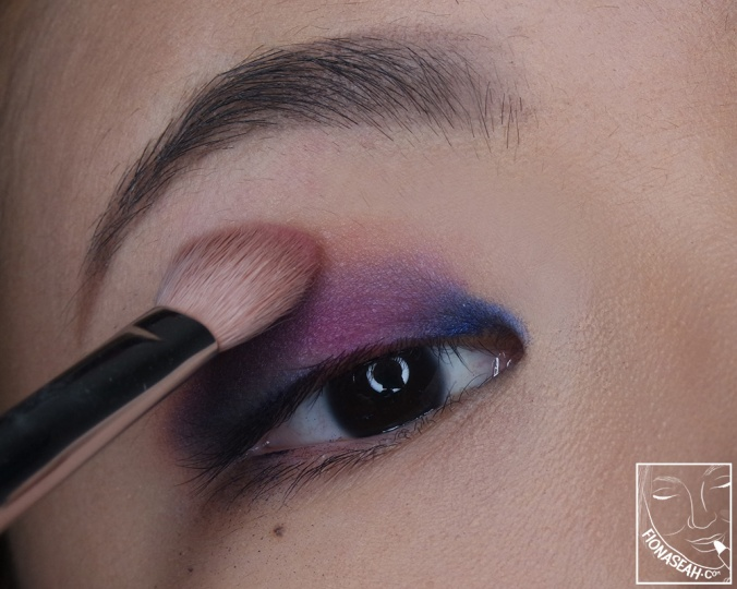 Blend harsh edges with the help of some All's Rosy on the brush