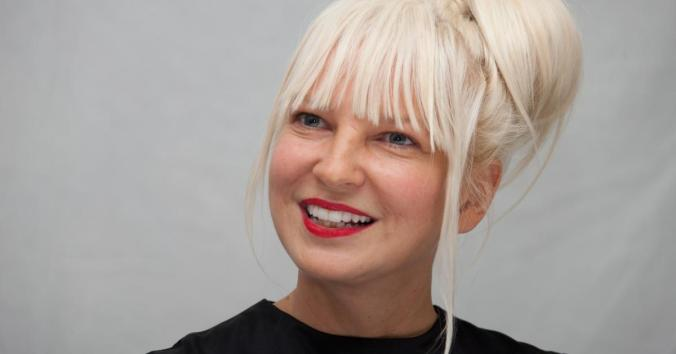 Sia behind the wig