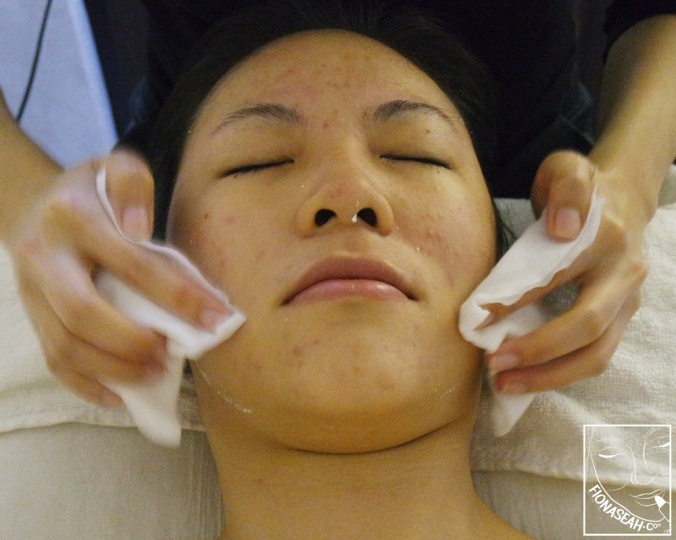 Mask removal, and a little bit of massage