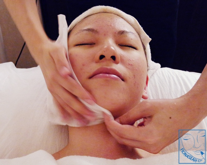 Towel-drying my face before HydraFacial