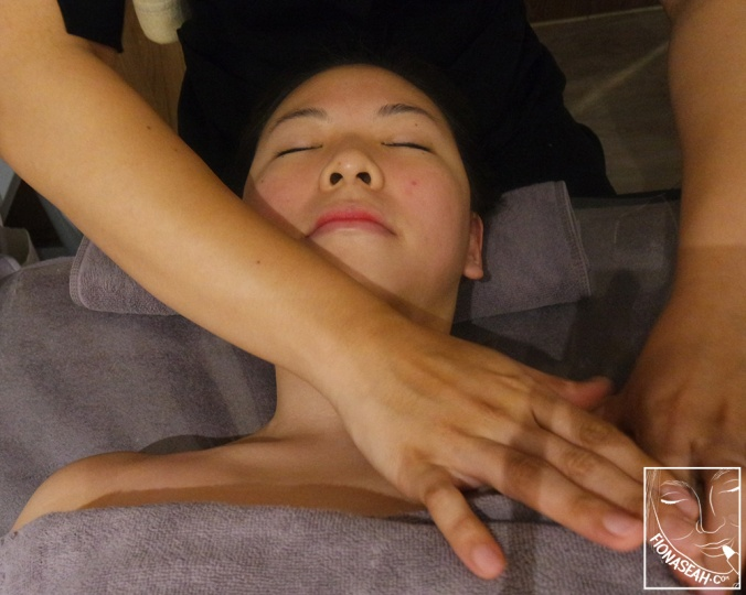 Therapist takes over - upper frontal body massage