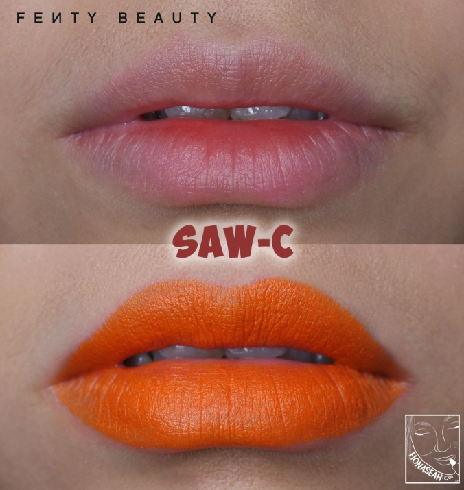 Fenty Beauty Mattemoiselle Plush Matte Lipstick in Saw-C
