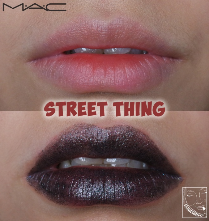 M·A·C × Aaliyah lipstick in Street Thing