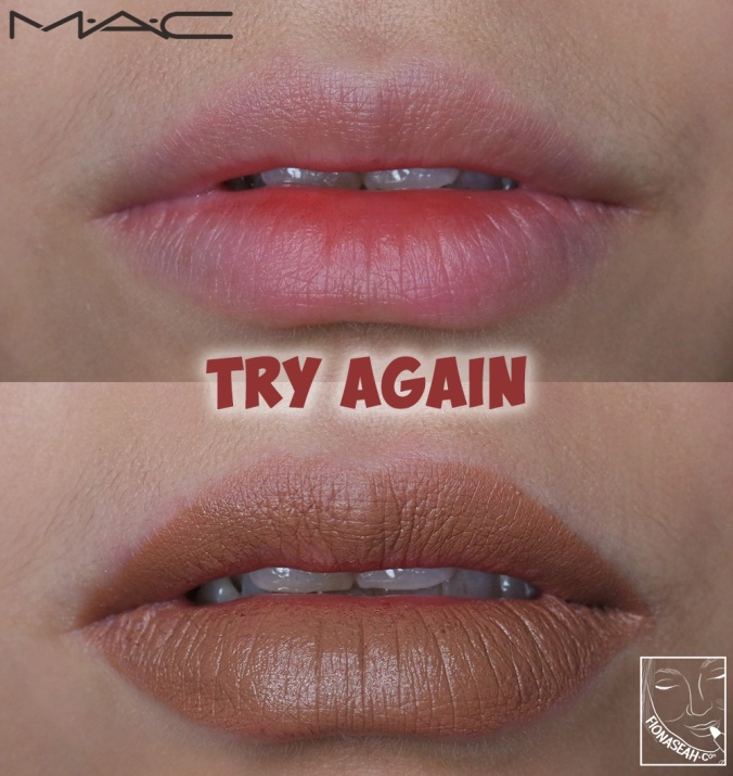 M·A·C × Aaliyah lipstick in Try Again
