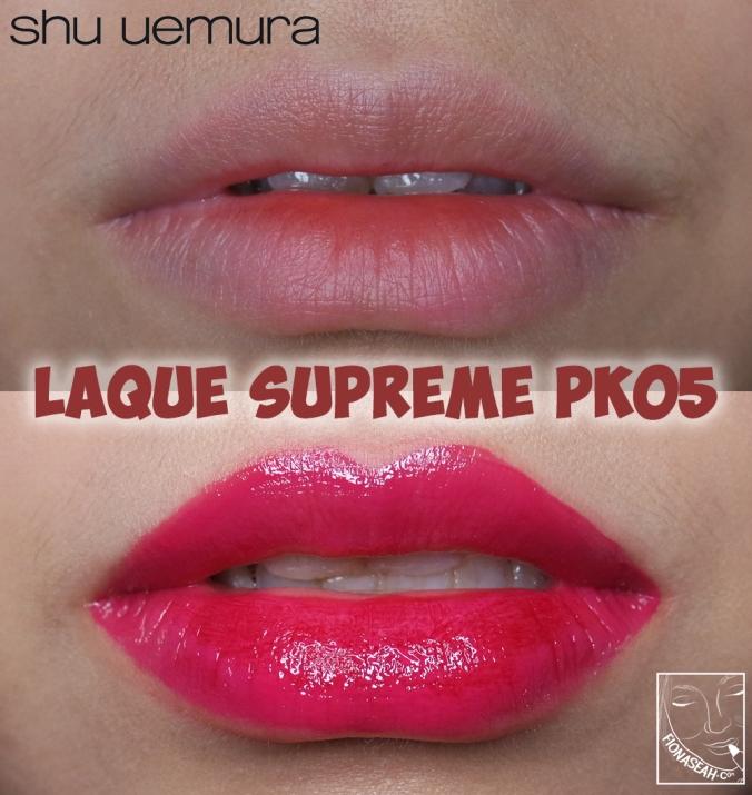 shu uemura Laque Supreme in PK05