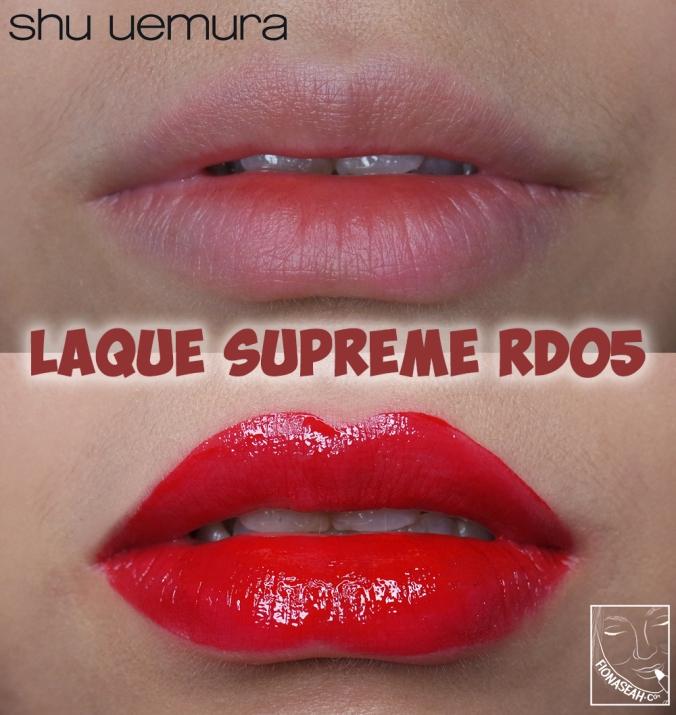 shu uemura Laque Supreme in RD05