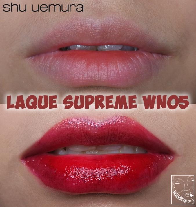 shu uemura Laque Supreme in WN05